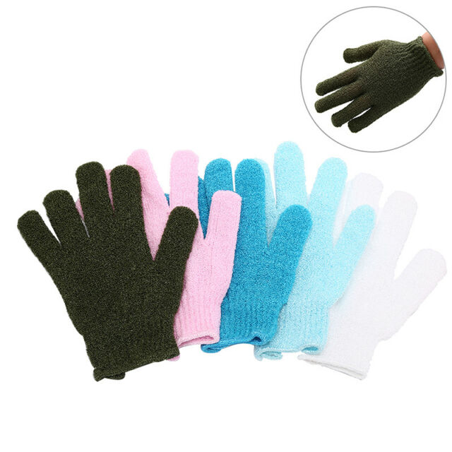 1pc shower exfoliating body scrub glove dead skin removal massage bath mitt&& YN