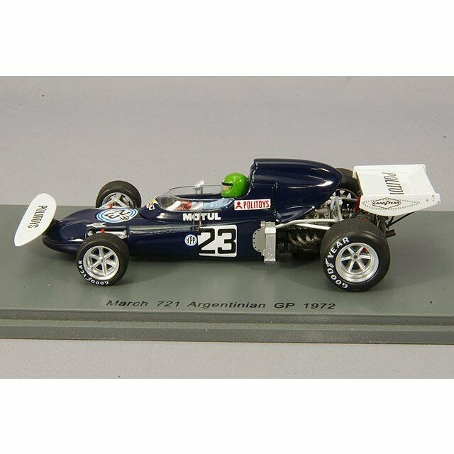 Spark 1 1 1 43 F1 March Ford 721 Henri Pescarolo 1972 silverine GP Japan Rare 050231