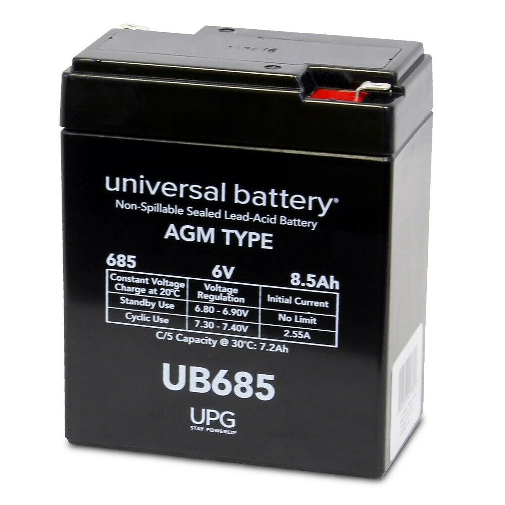 UPG 6V 8.5AH Replacement Battery for COOPOWER CP6-9.0 DANTONA LEAD-6-8PS