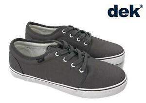 Homme-DEK-Toile-Chaussures-A-Lacets-Bateau-Casual-Deck-Summer-Yacht-Pompes-Tennis