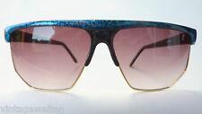 große Sonnenbrille XL Eschenbach gold türkis Damen Herren ausgefallen neu size L
