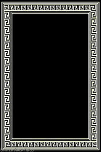 Details About 8x10 Area Rug Modern Greek Key Design Solid Black With Border Size 7 X10 New