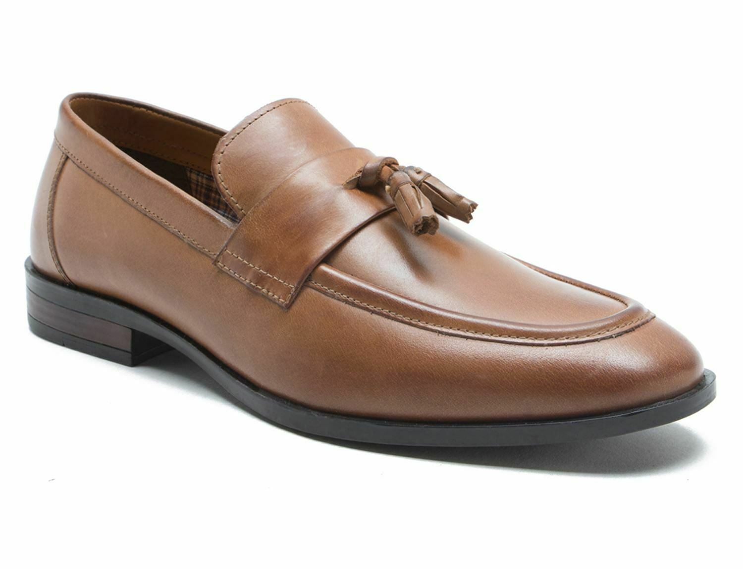 Red Tape Lumley Tan Leather Mens Tassled Loafers Free UK P&P