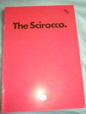 VW Scirocco range brochure 1985