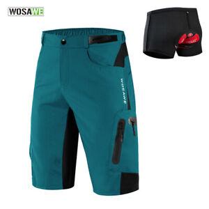 Cycling-Baggy-Shorts-MTB-Mountain-Bike-Road-Men-Loose-Fit-Sport-Short-Pants-Pads