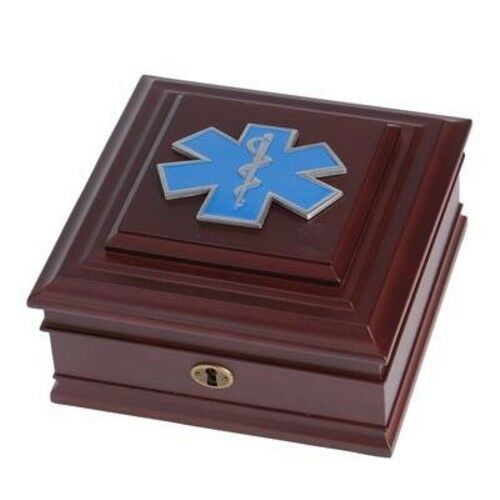 EMS Medallion Desktop Box with Key - Allied