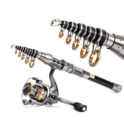 Mini Telescopic Fishing Rod Portable Sea Fishing Casting Rod Tackle Rod | eBay