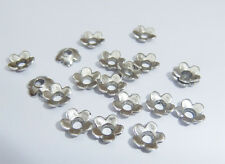 100  x Tibetan Silver Flower Bead Caps - 6.5mm