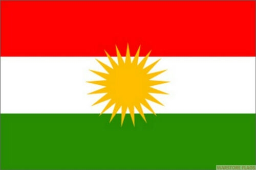 KURDISTAN FLAG Kurds Asia GIANT 8X5 FLAGS Kurdish