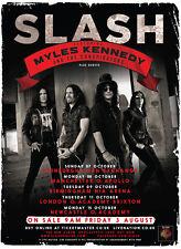 SLASH / MYLES KENNEDY & CONSPIRATORS 2012 UK CONCERT TOUR POSTER - Guns N' Roses