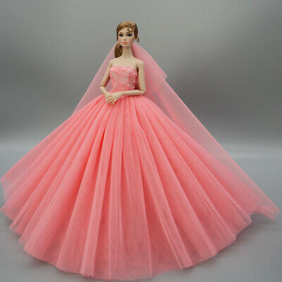 Fashion Princess Party Dress//Evening Clothes//Gown For 11.5 inch Doll a18
