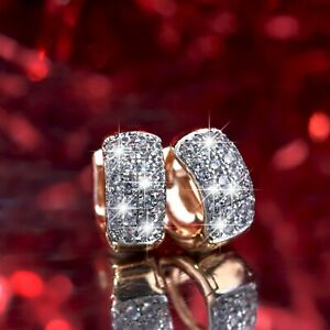 18k-yellow-gold-made-with-Swarovski-crystal-huggies-fashion-earrings-VERY-SMALL
