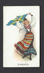 WILLS-O-039-SEAS-FLAG-GIRLS-OF-ALL-NATIONS-SWEDEN