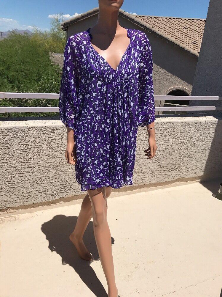 Diane von von von Furstenberg  Fleurette Printed Silk Dress 645f1c