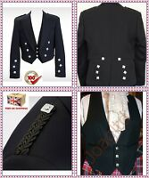 Prince Charlie Jacket And Vest- Wool Polyester Size 38 To 52//