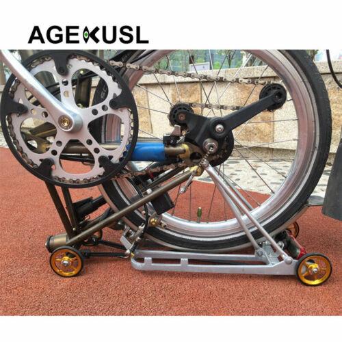 AGEKUSL Easywheel For Brompton Bike Pierced Wheels Rollers Aluminum Alloy 1 Pair