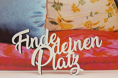 Schriftzug Finde deinen Platz Acryl gold Hochzeit Sitzplan Fest Geburtstag Feier