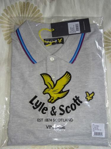 xxl 082015 Para Hombre Lyle /& Scott Vintage Camisa Polo Gris Claro M//l//xl