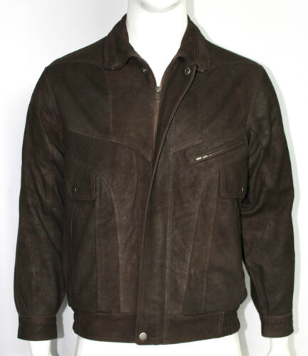 Dylan Mens Skipper Brown Designer Casual Fit Retro Classic Rock Leather Jacket