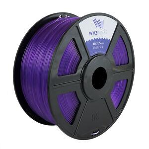 Purple WYZwork 3D Printer Premium PLA Filament 1.75mm 1kg//2.2lb