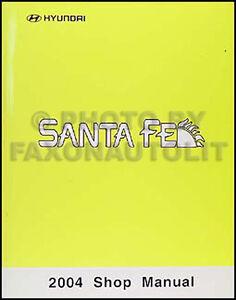 manual de taller hyundai santa fe 2004