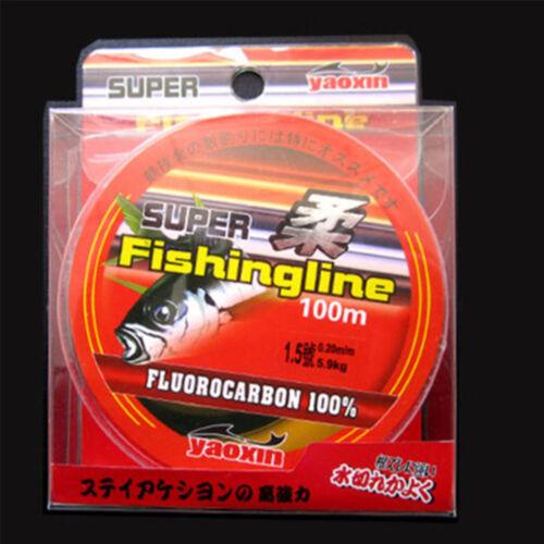 100M Super Strong 100/% Fluorocarbon Monofilament Nylon PA Fishing Line 0.8-6LB