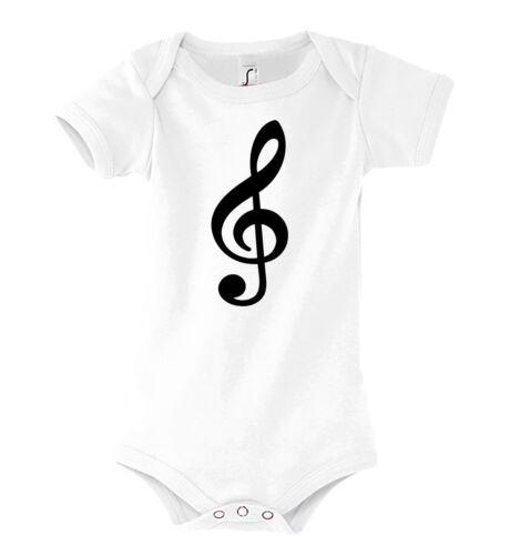 TRVPPY Baby Body Strampler Modell Notenschlüssel Violinschlüssel Kinder Shirt