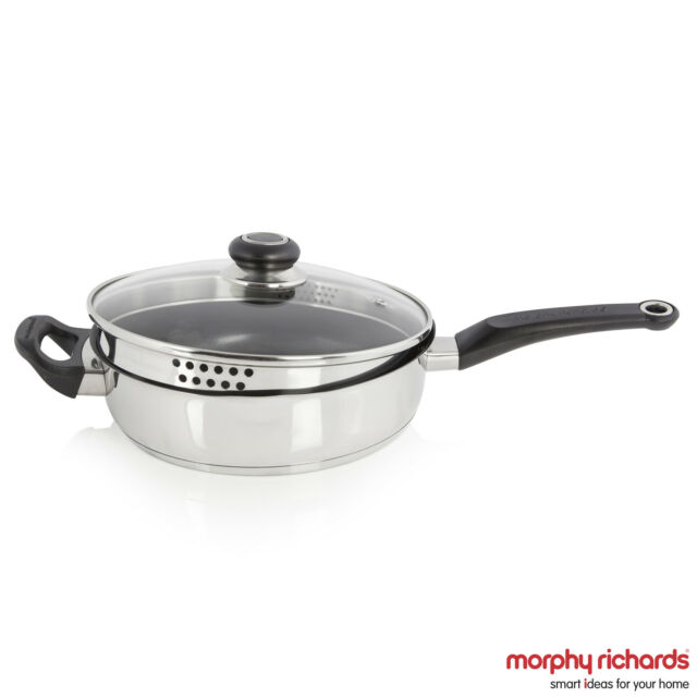 Morphy Richards 970009 24cm Equip Saute Pan - Stainless Steel - Brand New
