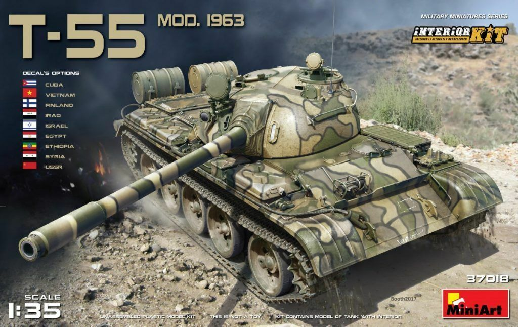 Miniart 37018 1 35th scale T-55 Mod. 1963 with full interior Kit