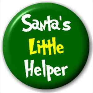 Small-25mm-Lapel-Pin-Button-Badge-Novelty-Santa-039-S-Little-Helper