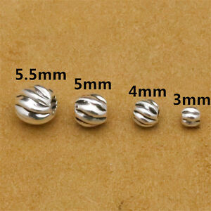 twisted silver bead bracelet. Corrugated