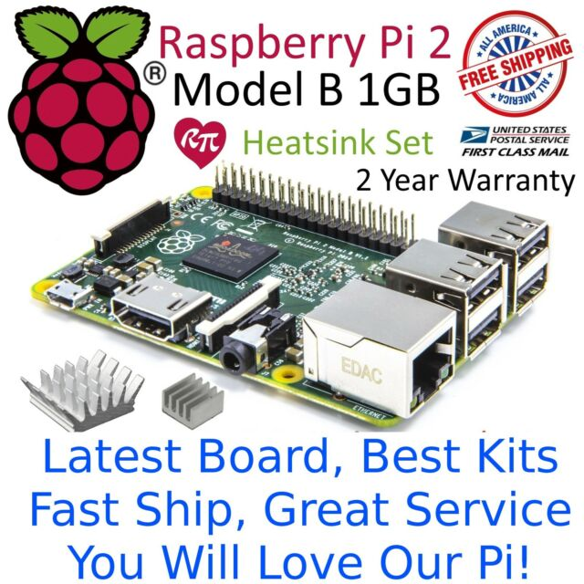 RASPBERRY PI 2 Model B 1GB RAM Quad Core 900MHz CPU 2015 Edition