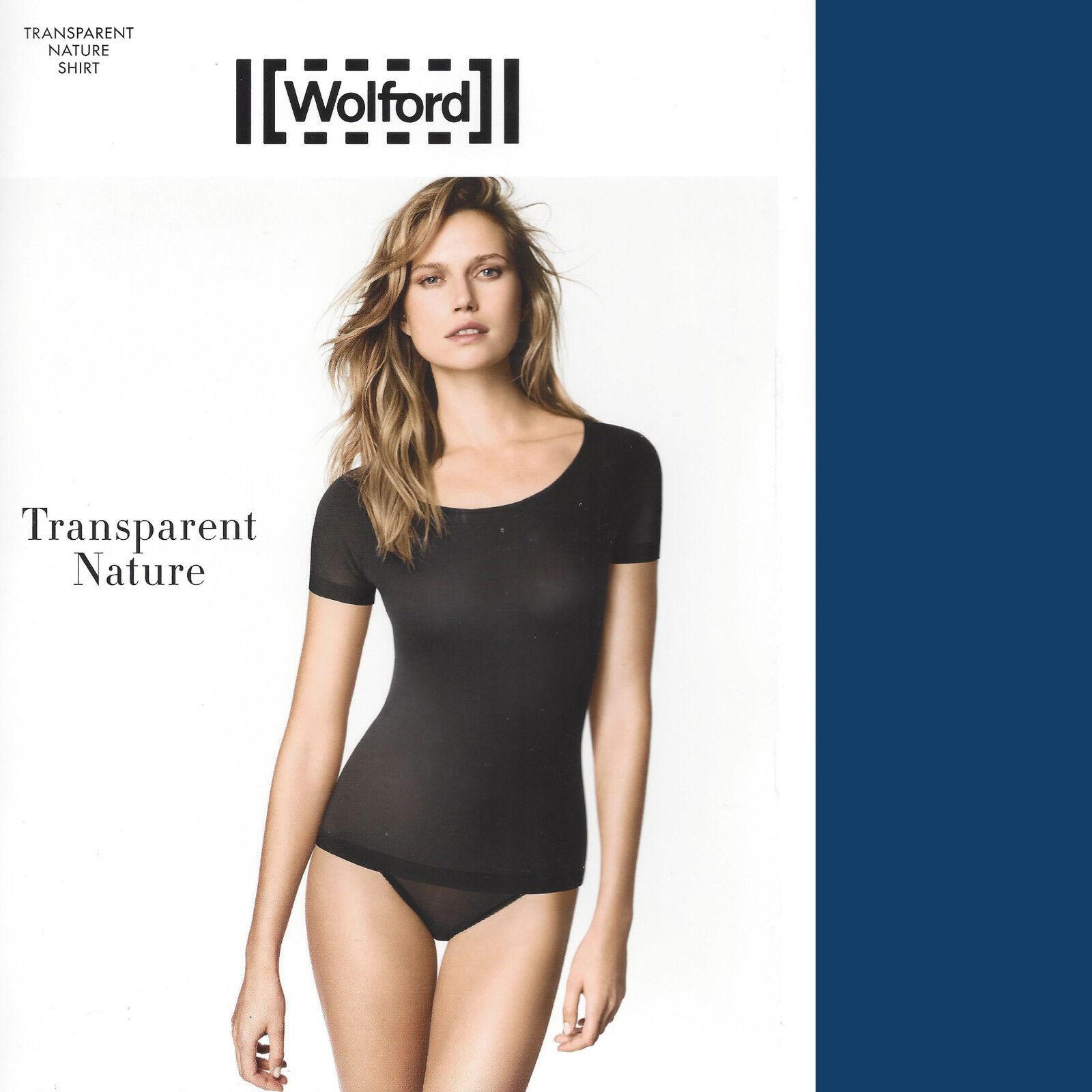 SALE • Wolford Transparent Nature Shirt • XS • lapis blau ...weich und natürlich