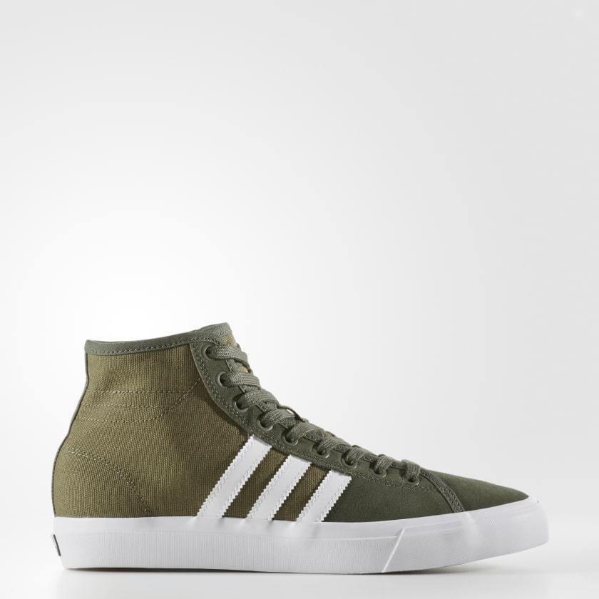 Adidas originali matchcourt alto rx uomini scarpe / olive / scarpe bianco by3992 skateboard b3efa0