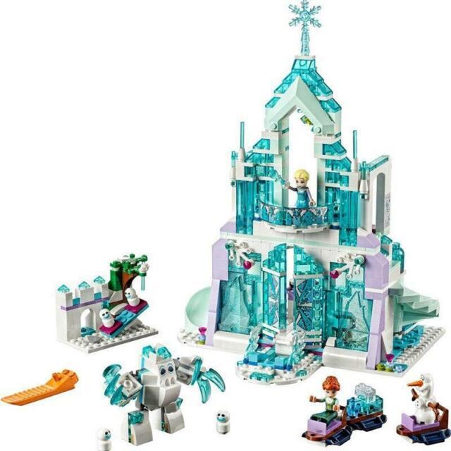 316pcs Dream Princess Castle Elsa Ice Castle Princess Anne Building Blocks Lego