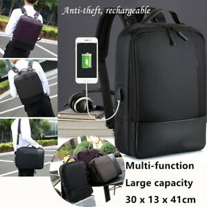 e1c914ecff7c Details about 1*Premium Anti-theft Laptop Backpack with USB Port Waterproof  Nylon Zipper iPad