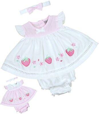 BabyPrem Baby Mädchen Kleidung Rosa weißes Kleid ...