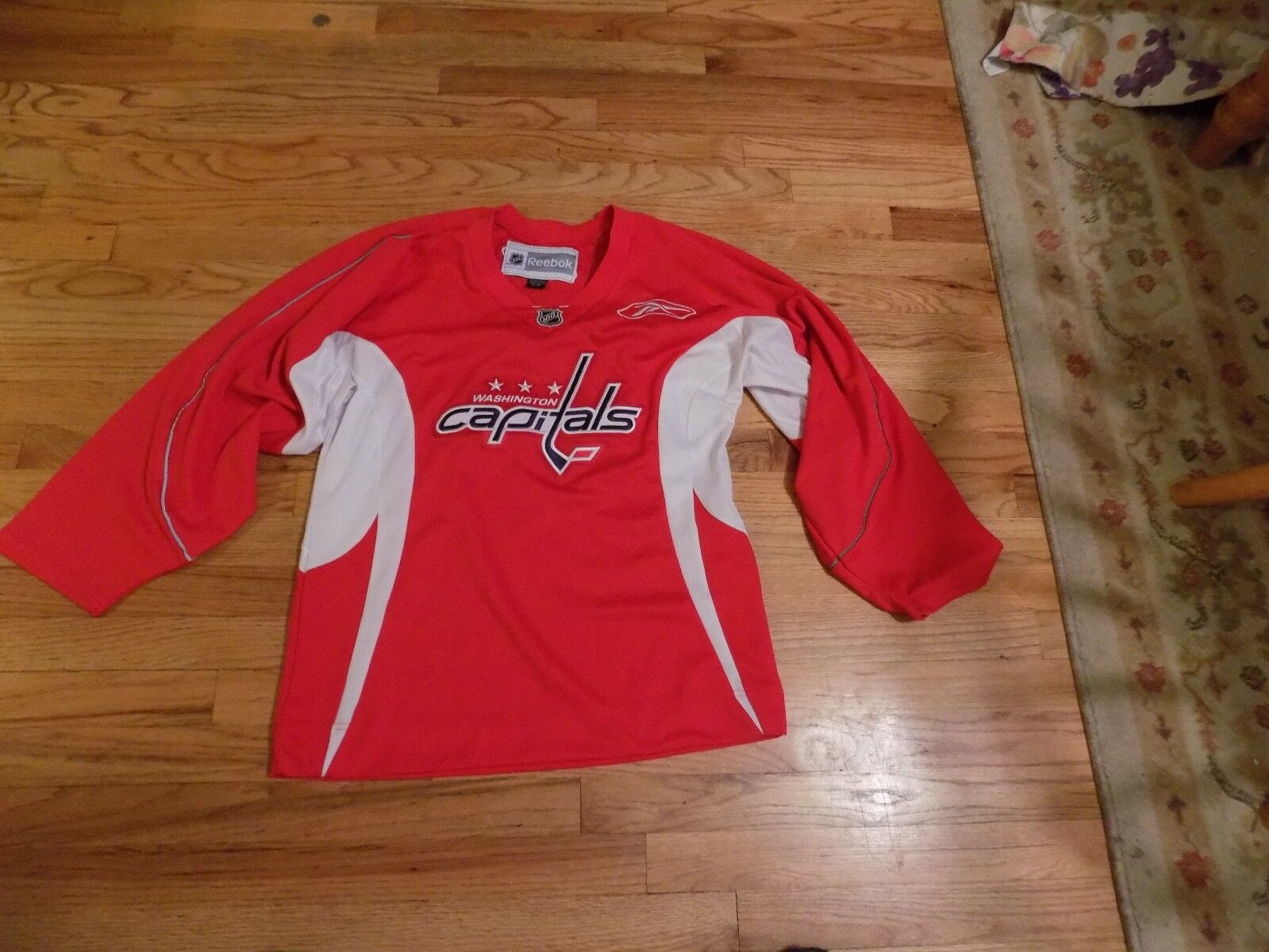 Reebok Washington Capitals Practice Jersey rot  EX+++ EX+++ EX+++  Adult Small 68eacc