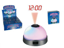 3 LED Coloured Changing Projection Alarm Clock with Digital Time Room Gift *New