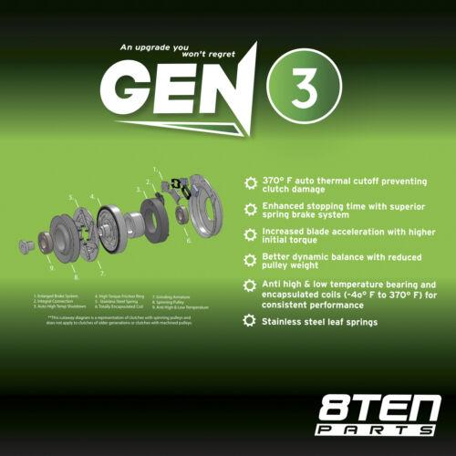 8TEN Electric PTO Clutch Exmark Toro Warner 116-1620 5218-207 116-1604 109-9282