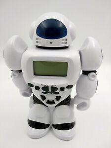 Robot-tirelire-avec-horloge-sons-et-lumiere-neuf-hauteur-26cm