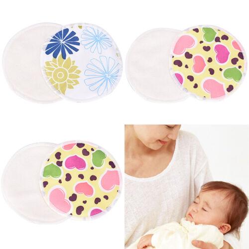 Bamboo Reusable Breast Pad Nursing Maternity Organic Washable Waterproof ^