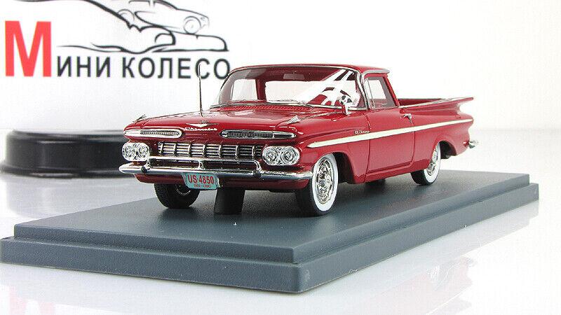 Coche modelo escala 1 43 Chevrolet El Camino Rojo 1959