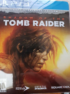 Shadow of the Tomb Raider Croft Steelbook Edition (PS4) *No Game* + Bonus