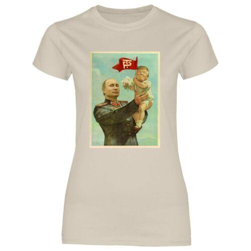 Damen T-Shirt Trump Putin USSR Sowjetunion CCCP