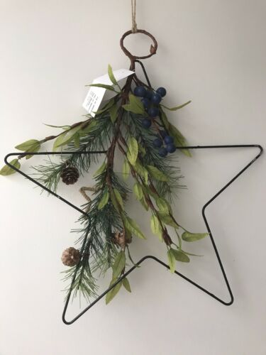 "Pine cone and berry  Artificial Plant Christmas  ""Scandi-Wreath"""