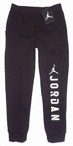 059628bd6332f1 NWT NIKE AIR JORDAN Boys JUMPMAN Fleece Jogger Sweat Pants BLACK ...