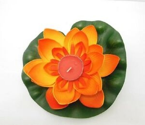 25-Embossed-Orange-Floating-Lotus-Flower-Wedding-Decoration
