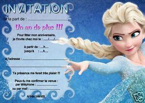 5 ou 12 cartes invitation anniversaire reine des neiges rf 02 avec 5 ou 12 cartes invitation anniversaire reine des stopboris Gallery