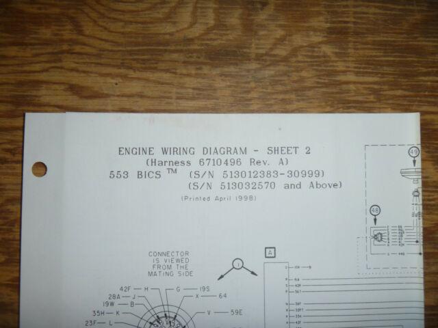 Bobcat 553 Bics Skid Steer Engine Electrical Wiring